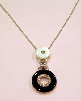 67b6215b2805 Gargantilla de Oro blanco con Luna de Diamantes - joyeria.online